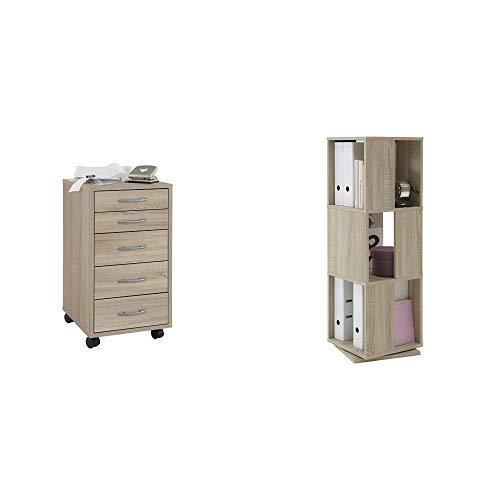 b8ca8bd5d474b4 FMD Möbel 336-001 Rollcontainer Freddy (B H T) 33 x