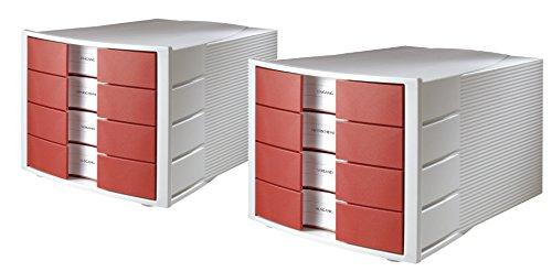 Rollcontainer Rot rollcontainer aus kunststoff mit schubladen