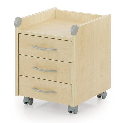 rollcontainer ahorn ahornoptik. Black Bedroom Furniture Sets. Home Design Ideas