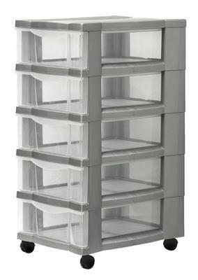 Rollcontainer kunststoff 3 schubladen  Rollcontainer aus Kunststoff mit Schubladen