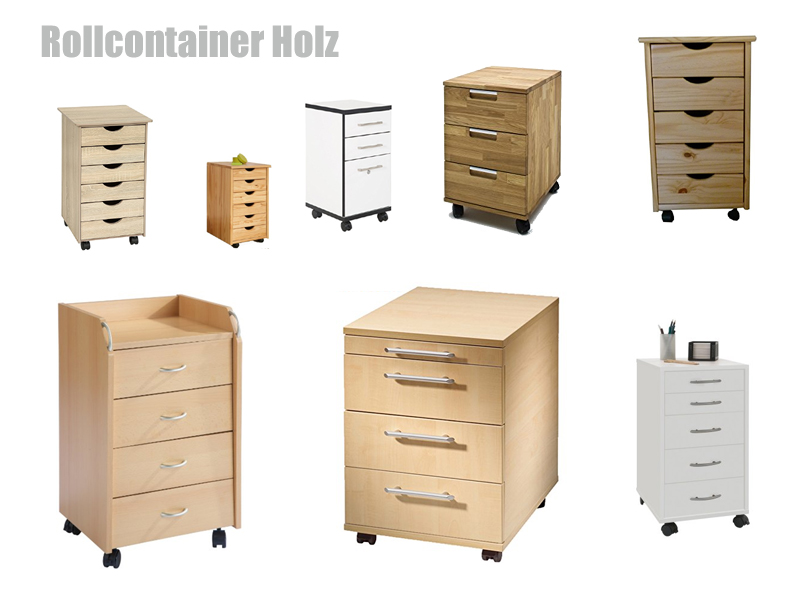 holz rollcontainer. Black Bedroom Furniture Sets. Home Design Ideas