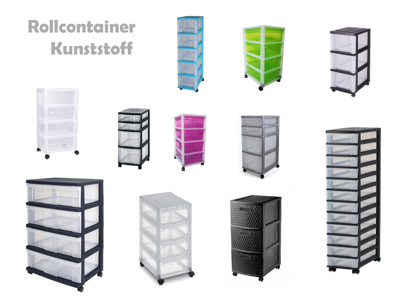Rollcontainer kunststoff 3 schubladen  Rollcontainer aus Kunststoff